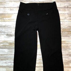 Style & Co Petite Large Black Stretch Pants Womens
